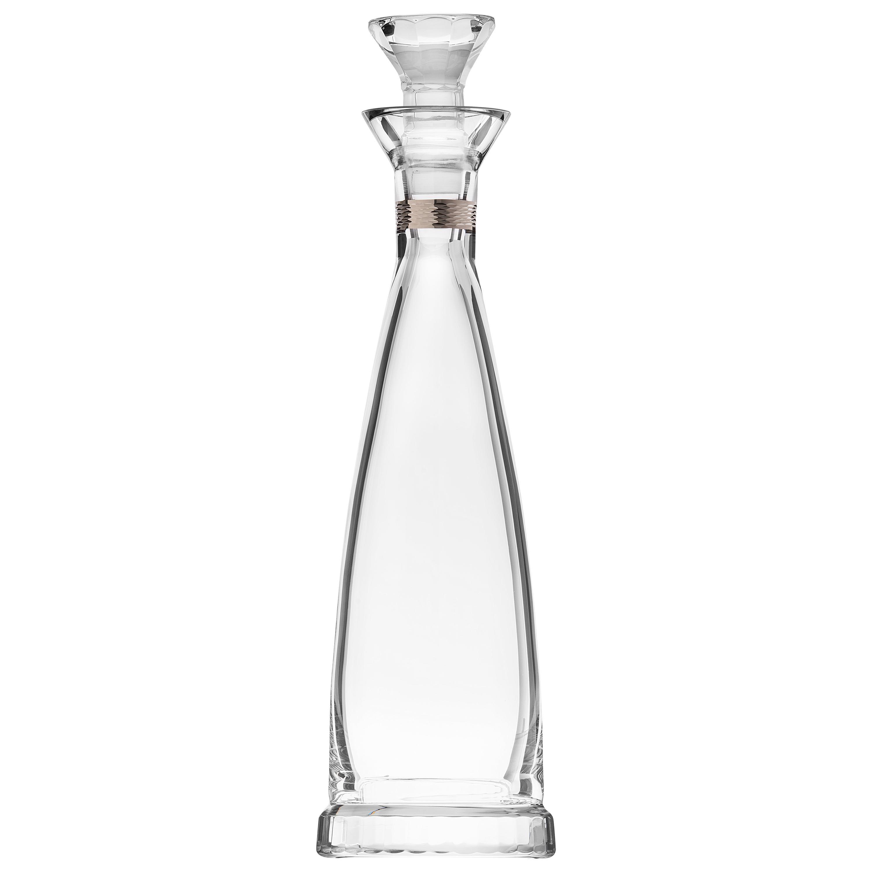 Casanova Wine Decanter Lead-Free Crystal Clear with Platinum Decor, 1 qt.