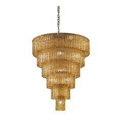 Cascade Amber 19-Light Chandelier