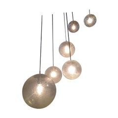 Cascade Chandelier BubbleGlass glass balls Kalmar/Putzler, 1960, Vienna, Austria
