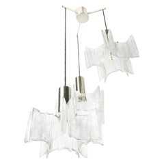 Cascade Glass Chandelier by Kaiser Germany, 1960s, Germany
