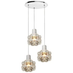 Cascade Light Fixture with Three-Pedant Lights by Helena Tynell, 1970s