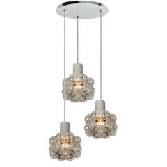 Cascade Light Fixture with Three Pedant Lights by Helena Tynell, 1970s
