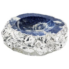 Cascita Bowl in Indigo and Pure Silver by Anna Rabinowitz