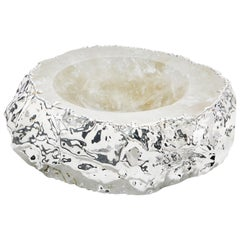 Cascita Bowl in Quartz and Pure Silver by Anna Rabinowitz