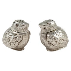 Cased Pair of Edwardian Silver Chick Pepper Pots, Charles & George Asprey, 1904