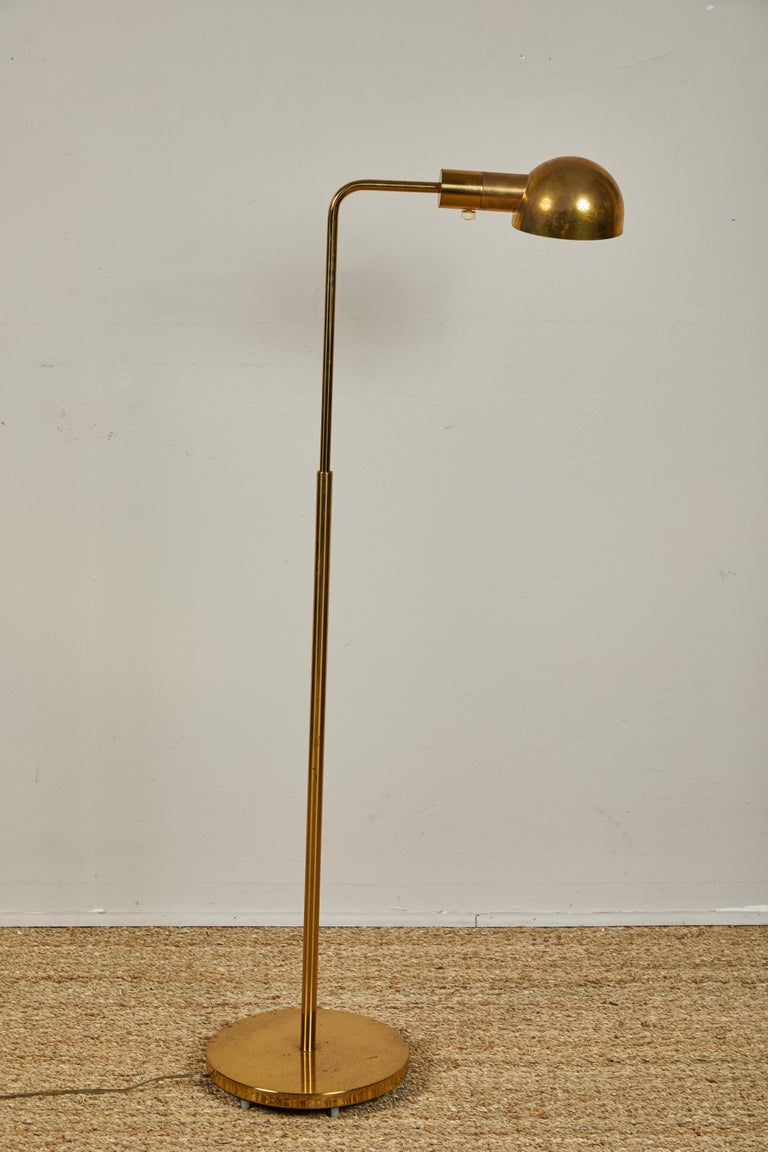 Plated Casella Brass Floor Lamps For Sale