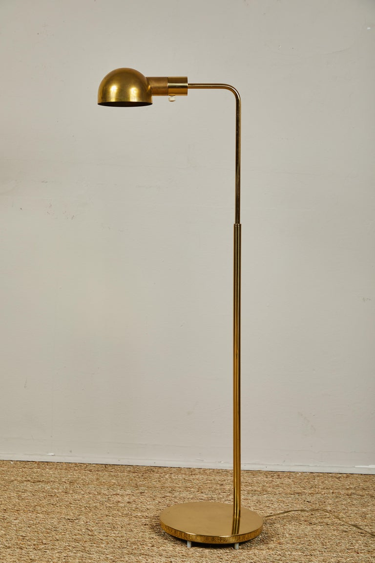 Casella Brass Floor Lamps In Good Condition For Sale In Los Angeles, CA