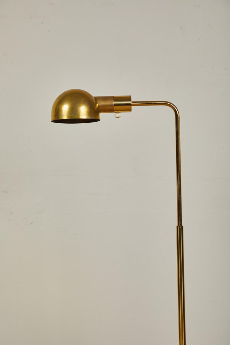 Late 20th Century Casella Brass Floor Lamps For Sale