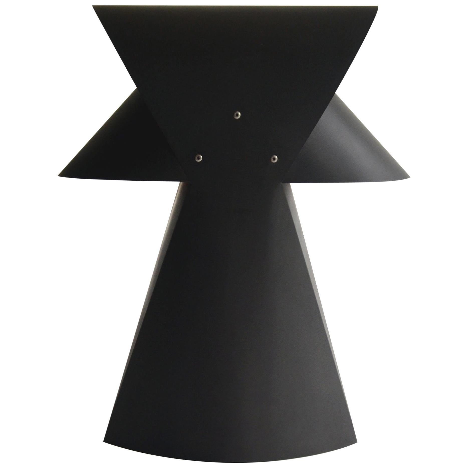 """Contemporary """"Folio"""" Steel Table Lamp in Black Oxide by Casey Lurie USA"""