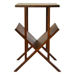 "Modern Contemporary ""Lap"" Side Table in Walnut by Casey Lurie USA"