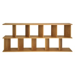 "Contemporary Room Divider Shelving ""30/30 S"" in Oak by Casey Lurie Studio"