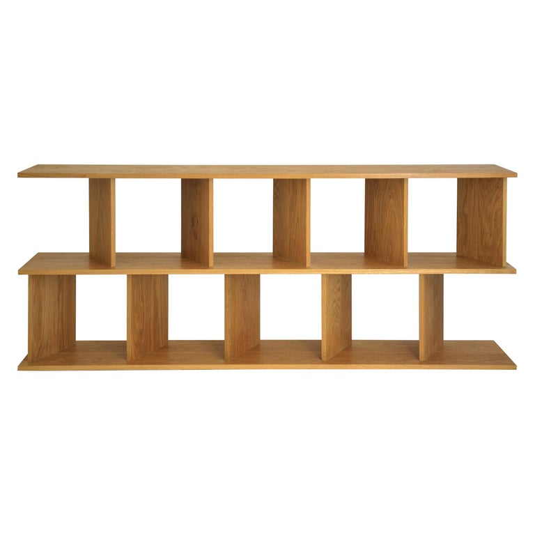 """Contemporary Shelving Room Divider """"101 Low"""" in Oak by Casey Lurie USA For Sale"""
