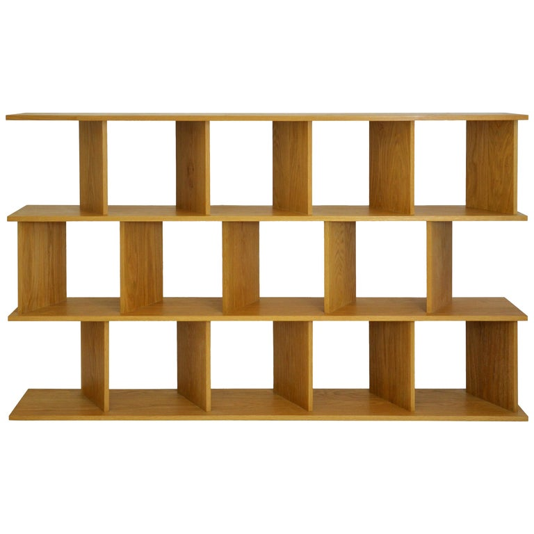 "Contemporary Shelving Room Divider ""101 Medium"" in Oak by Casey Lurie USA For Sale"