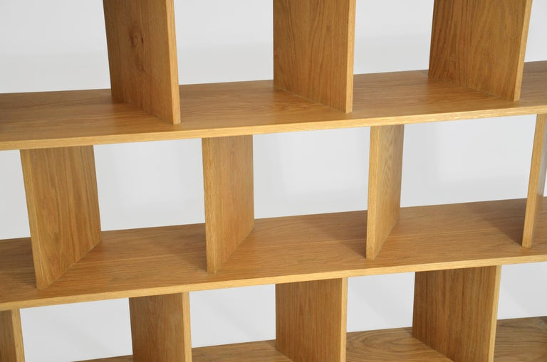 Hand-Crafted Contemporary Room Divider Shelving