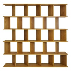 "Casey Lurie Studio Modern Contemporary Tall ""101"" Shelving Room Divider Screen"