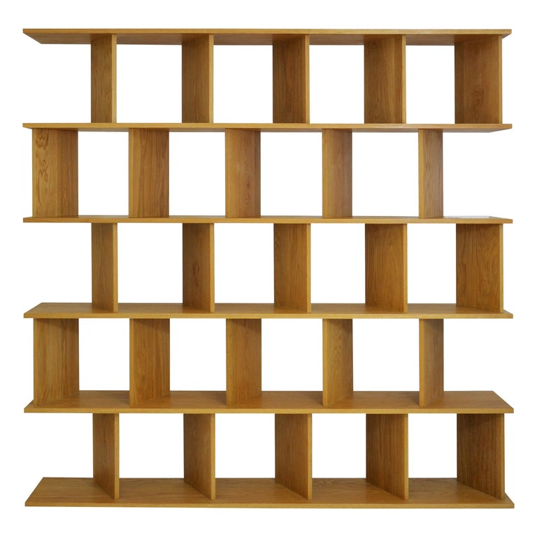 """Contemporary Room Divider Shelving """"101 L"""" in Oak by Casey Lurie Studio For Sale"""