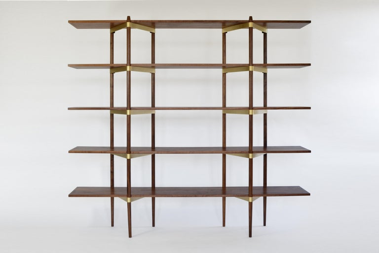 """""""Shelving can be the most mundane thing you own, or it can be the beautiful bones of a room as pleasing to see as anything it displays. Casey Lurie's Primo system would be the latter."""" William L. Hamilton, The wall street journal  The Primo shelving"""