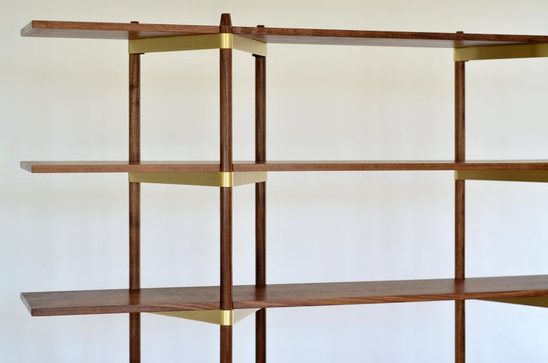 """Shelving can be the most mundane thing you own, or it can be the beautiful bones of a room as pleasing to see as anything it displays. Casey Lurie's Primo system would be the latter.""
