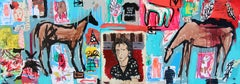 Mixed Media on Canvas by Casey McGlynn, Keith Richards Once Saved the World