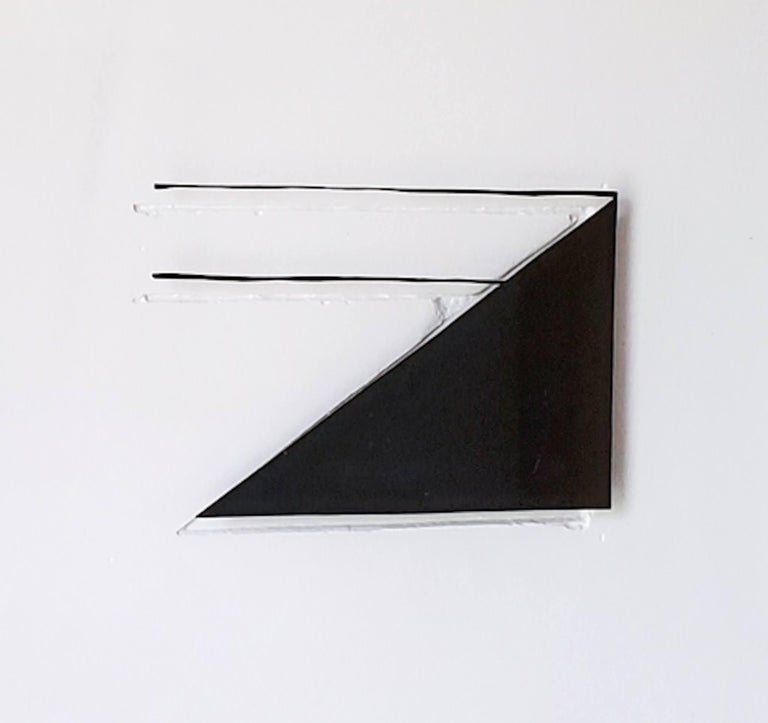 Wall, 2018 by Casey Waterman Plaster, Glass, Vinyl, Walnut One of a kind art wall installation of 16 pieces.  Overall size: 72