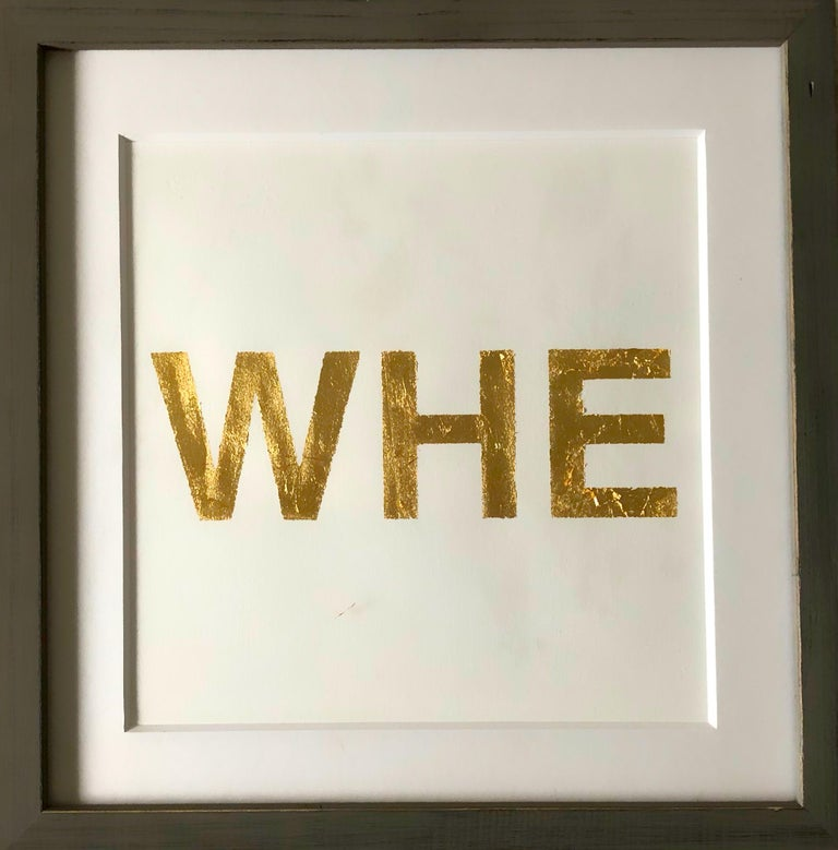 When You Love Someone, 2015, Metal Gold Leaf on Archival Paper - Print by Casey Waterman
