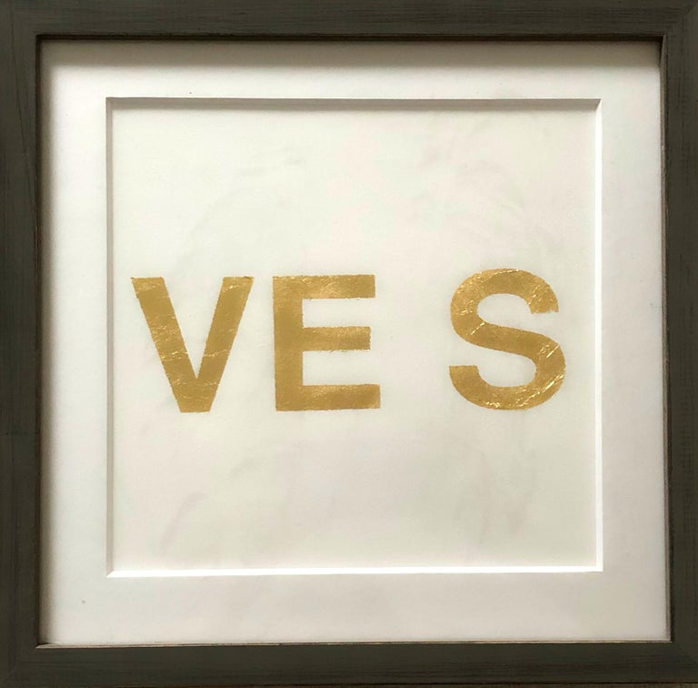 When You Love Someone, 2015, Metal Gold Leaf on Archival Paper For Sale 1