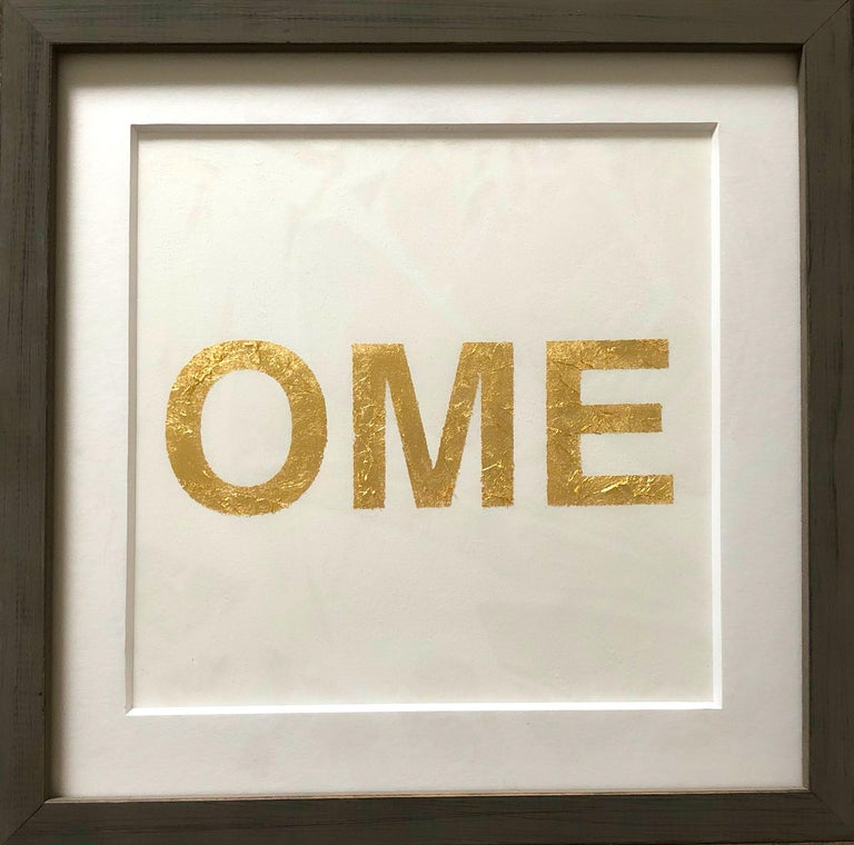 When You Love Someone, 2015, Metal Gold Leaf on Archival Paper For Sale 2