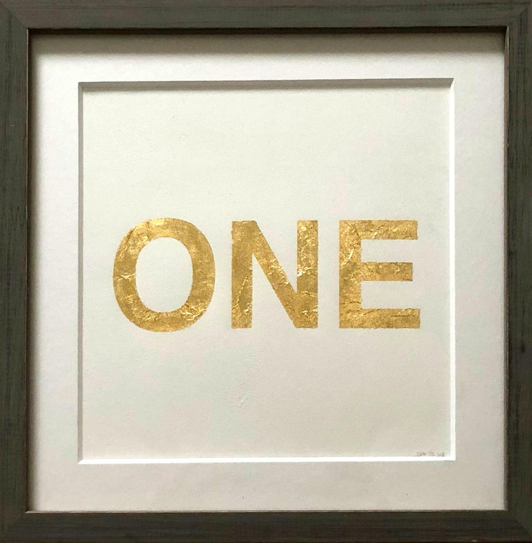 When You Love Someone, 2015, Metal Gold Leaf on Archival Paper For Sale 3