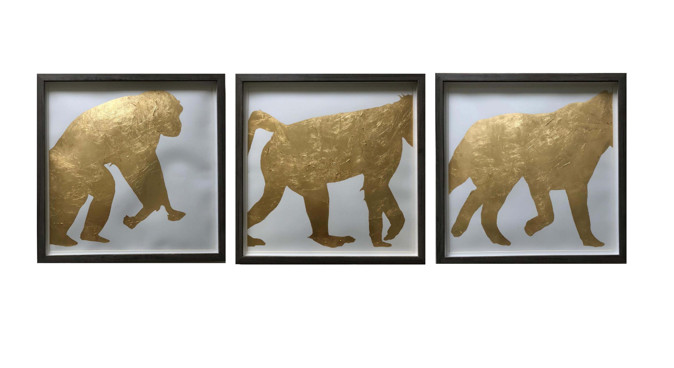 Three's Company, framed triptych