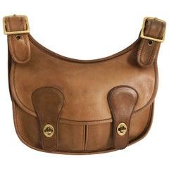 Cashin Coach Rare Pony Express Shoulder Bag Saddle Leather Vintage NYC