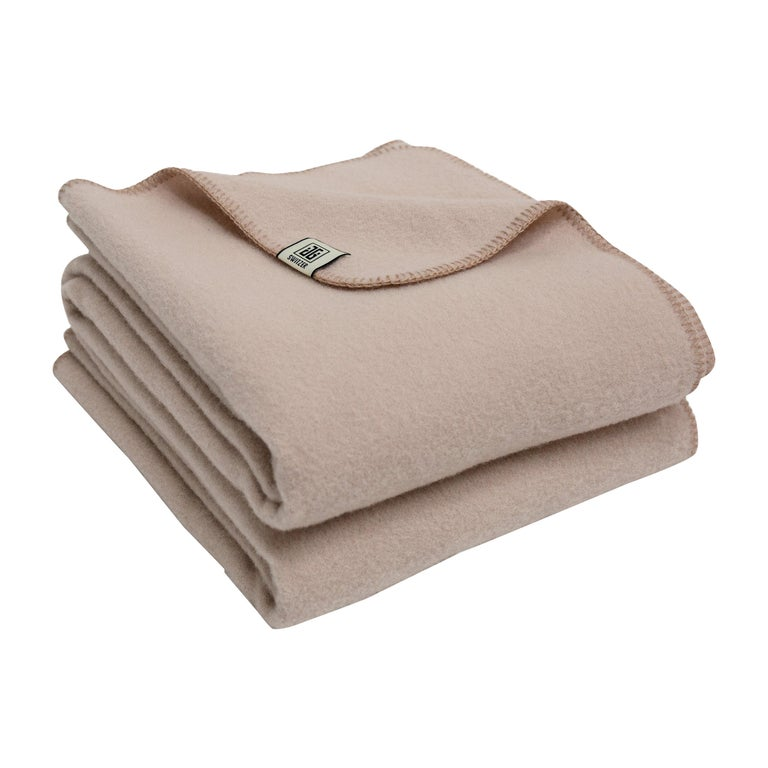 Cashmere Blend Throw in Champagne Color by JG Switzer For Sale