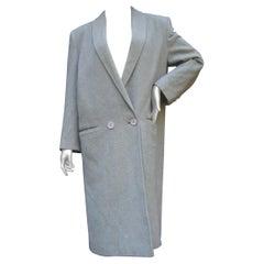 Cashmere Classic Heather Gray Women's Coat c 1980s