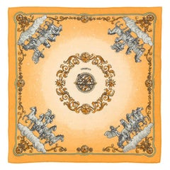 Cashmere Hermes Small Scarf Yellow Cosmos