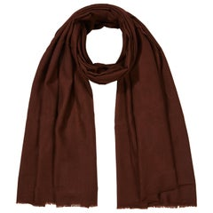 Cashmere Wool Shawl in Chocolate Brown