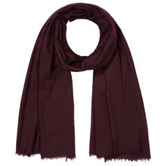 Cashmere Wool Shawl in Damson Burgundy made in Kashmir India