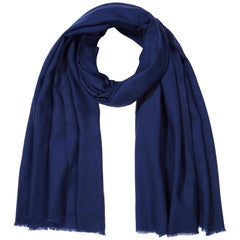 Cashmere Wool Shawl in Ink Navy