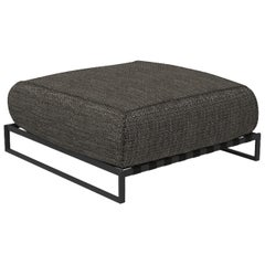 Casilda Outdoor Pouf Dark Gray