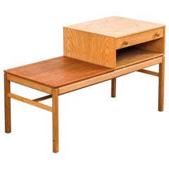 'Casino' Oak and Teak Modular Table by Sven Engström & Gunnar Myrstrand, 1960s