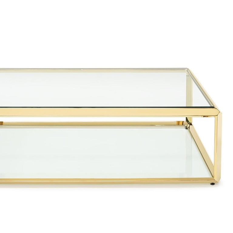 Casiopee Coffee Table in Gold Finish In New Condition For Sale In Paris, FR