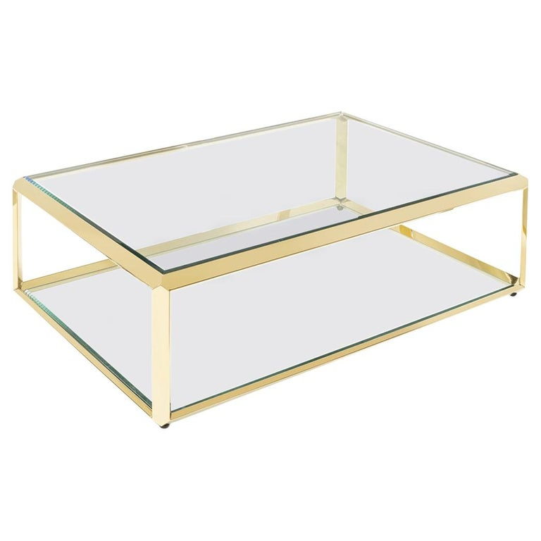 Casiopee Coffee Table in Gold Finish For Sale