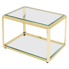 Casiopee Gold Side Table in Gold Finish