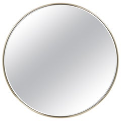 Casquet Natural Round Mirror in Metal by Roberto Cavalli Home Interiors
