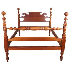 Cassady Furniture Early American Style Cherry Queen Size Cannonball Poster Bed