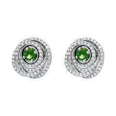 Cassandra Goad Agemaki Mint Tourmaline and Diamond Studs
