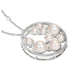 Cassandra Goad Agrumi Pearl and Diamond Necklace Pendant