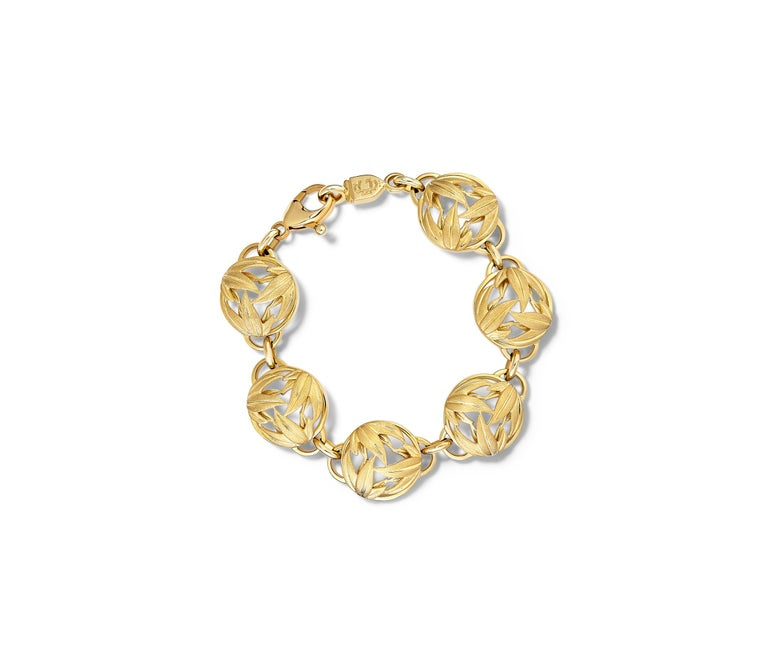 Cassandra Goad Bamboo 9 Karat Yellow Gold Necklace In New Condition For Sale In London, GB