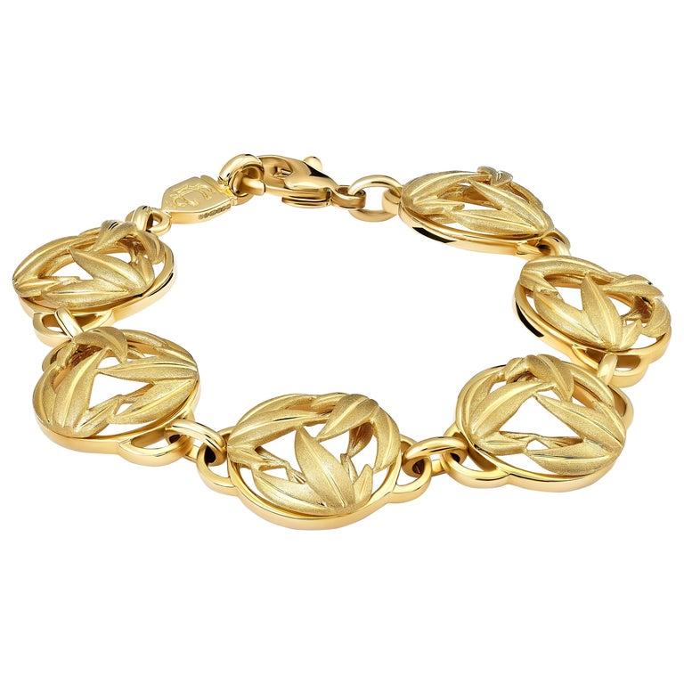 Cassandra Goad Bamboo 9 Karat Yellow Gold Necklace For Sale