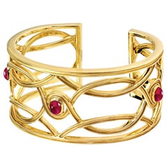 Cassandra Goad Conco d' Oro Gold and Ruby Cuff