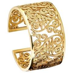 Cassandra Goad Florio Yellow Gold Cuff