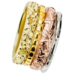 Cassandra Goad Four Seasons 18 Carat Yellow, White, Rose Gold Ring